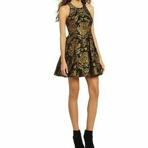 Gianni Bini Avaline Brocade Jacquard Party Dress